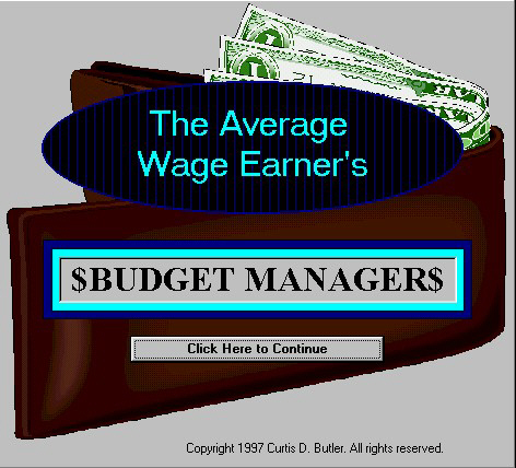 Average Wage Earners Budget Manager